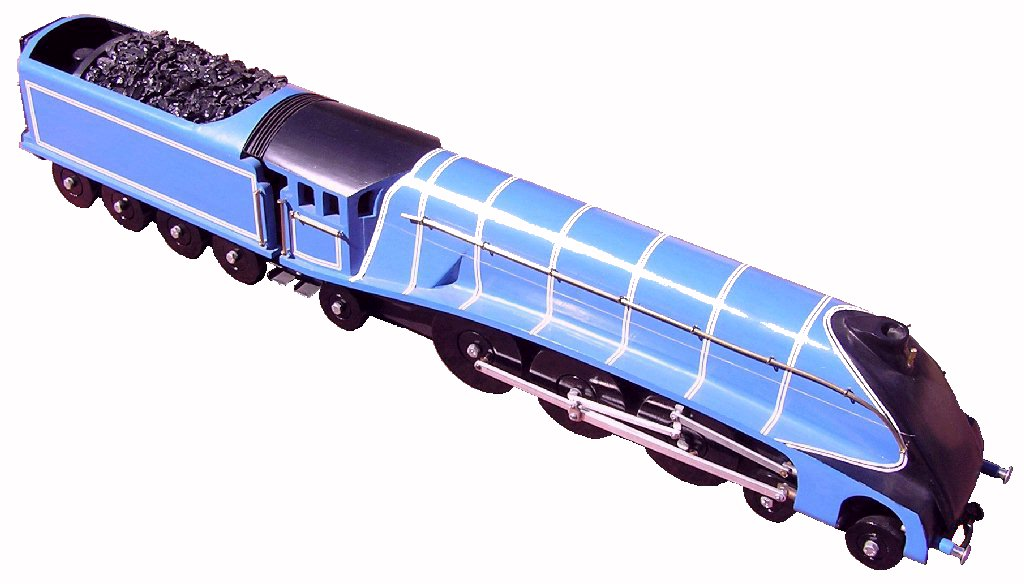 Photo of Class A4 steam engine model