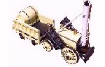 Photo of Stephenson's Rocket steam engine model